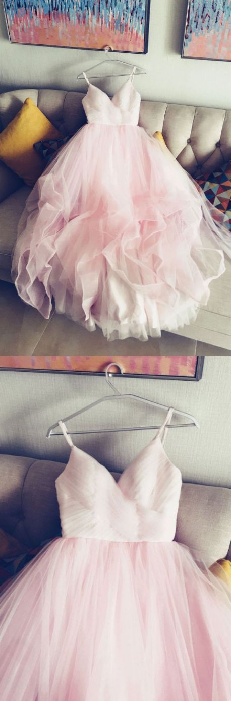 Pink Evening Dresses, Sleeveless Prom Dresses, Bodice Evening