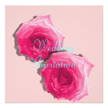A floral design, with beautiful pink dewy roses so delicate and pretty on a plain pink background with teal blue wording. Just change the text to fit your own personal wedding details, any problems just contact me.