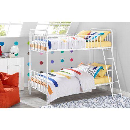 9 by Novogratz Berkshire Metal Twin/Twin Bunk Bed, Multiple Colors - Walmart.com
