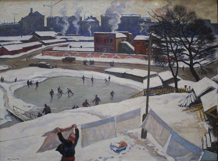 """П.П. Оссовский """"На московских окраинах"""" 1959"""
