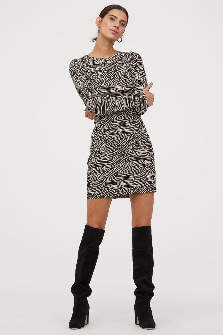 crepe kleid ladies kurze kleider kleider h m strickkleid