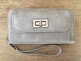 Portemonnee met telefoonvak grijs