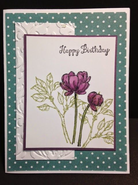 Bloom with Hope, Birthday Card, Stampin' Up!, Handmade Cards, Rubber Stamping