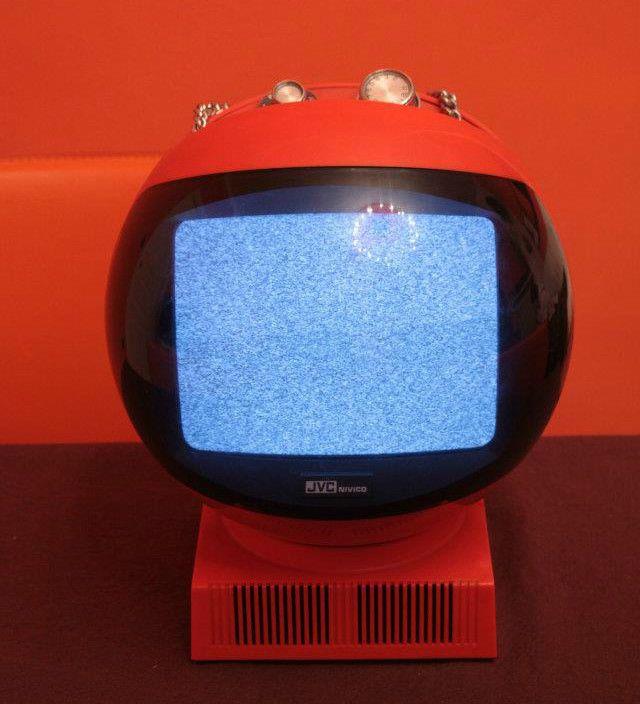Vintage 1970s JVC Videosphere TV Televisione SPACE AGE HELMET retro telè anni 70