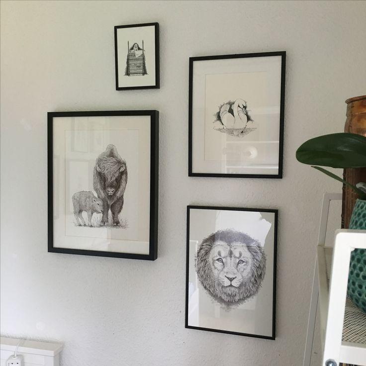 En af mine egne billedvægge i mit hjem