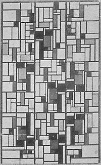 Glas-in-loodcompositie V, 1917-1919 (?)  Theo van Doesburg - Wikipedia