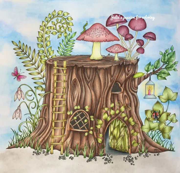 Enchanted Forest By Johanna Basford Colored Julies Passion For Coloring