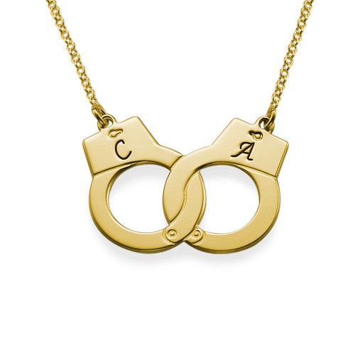 Handcuff Necklace in 18k Gold Plating | MyNameNecklace