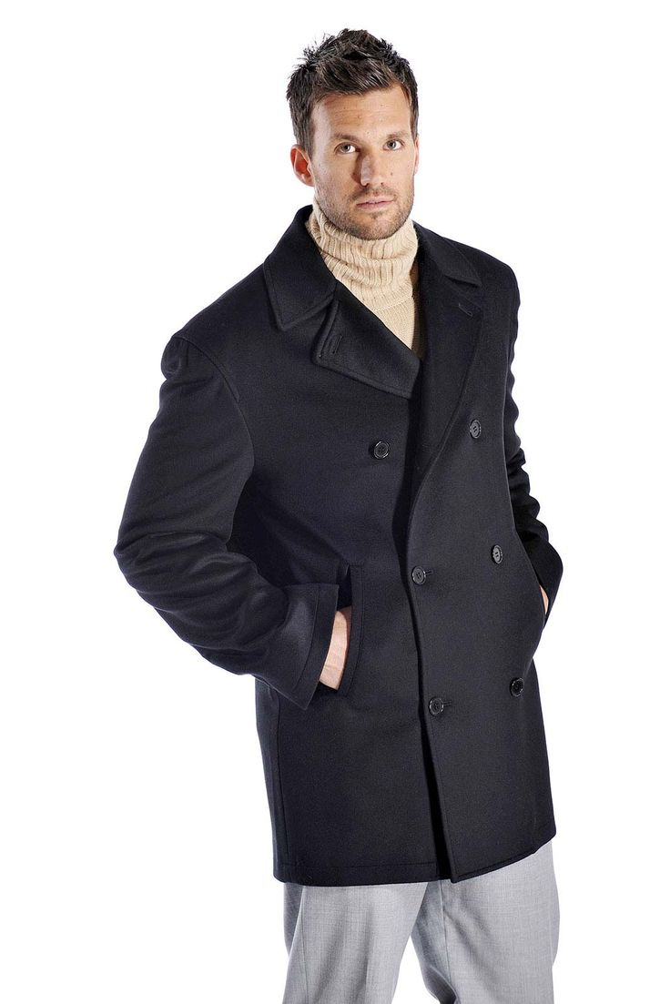 Our #CashmerePeaCoat is the perfect addition to any man's Winter wardrobe. #CashmereLifestyle http://qoo.ly/i4eqz