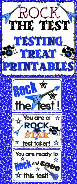 Rock the Test! Help your students rock the test with these FREE test prep printable!