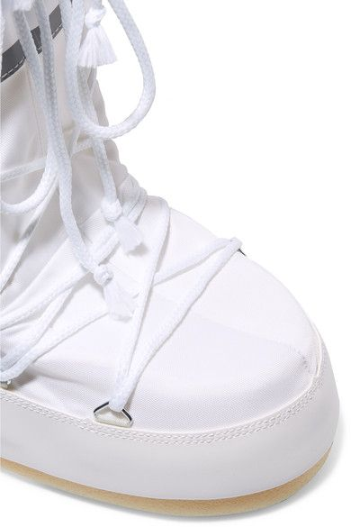 Moon Boot - Shell-piqué And Faux Leather Snow Boots - White