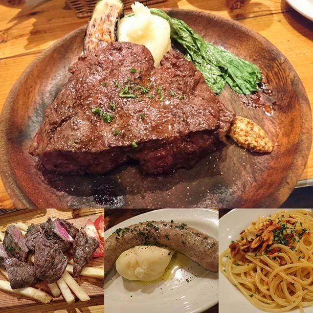今日のディナーは東京ブッチャーズ!美味しすぎた♪ #東京#神田#東京ブッチャーズ#夜ご飯#ディナー#美味しい#肉#お肉#ランプ#ミスジ#ソーセージ#マッシュポテト#パスタ#ペペロンチーノ #ポテト