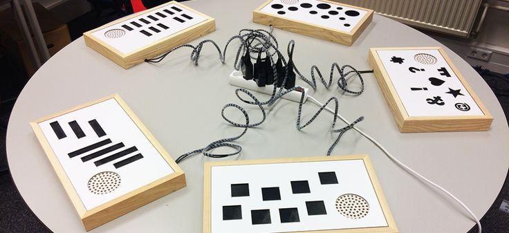 Sontobo is a wooden interactive interface for visually impaired people made with the #TouchBoard and #ElectricPaint.