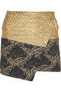KENZO|Cobra metallic jacquard and brocade wrap skirt|NET-A-PORTER.COM