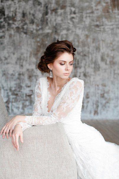 Make-up and Hair.  loveanddiamond.ru #weddinghair #curls #wedding #makeup #wedding #updo #hairstyle #weddingdress