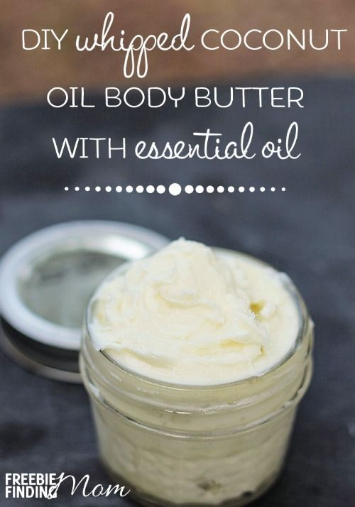 DIY Whipped Coconut Oil Body Butter With Essential Oils - Moisturize your skin with this luxurious DIY body butter. You can customize your homemade body butter by adding your favorite essential oils. What other homemade beauty recipes do you use?