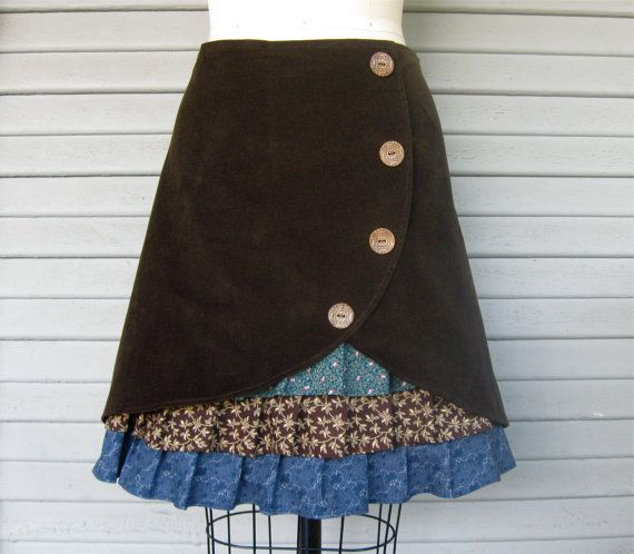 Super cute skirt. Should be able to make nice ruffles with scrap fabric.