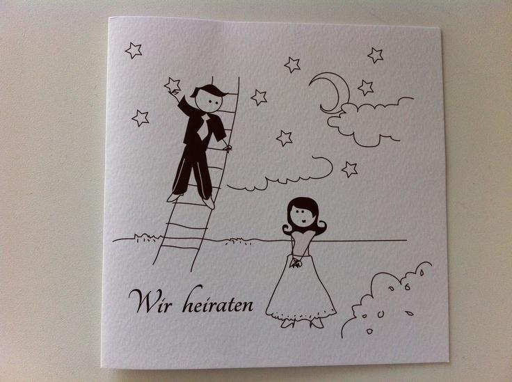 Einladung Hochzeit Postkarte