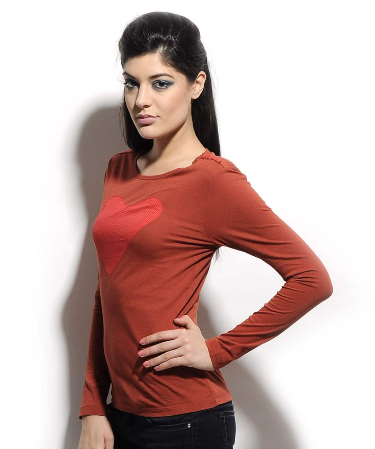 http://www.mydesignersales.com/designers-2/corsage/brown-love-t-shirt-by-corsage.html #T-shirt