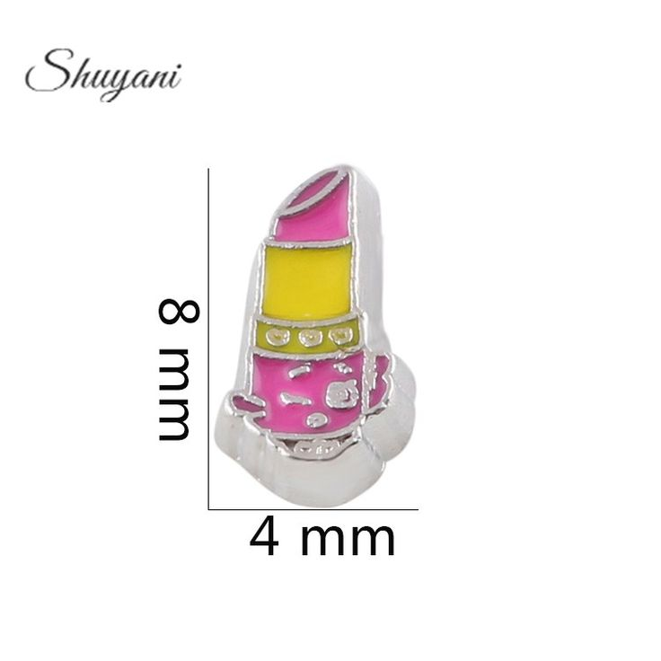 Find More Charms Information about 8*4mm 2016 Floating Locket Charms Lipstick Charm For 30mm Floating Locket,High Quality charm,China lockets Suppliers, Cheap charm calculator from shuyani Official Store on Aliexpress.com