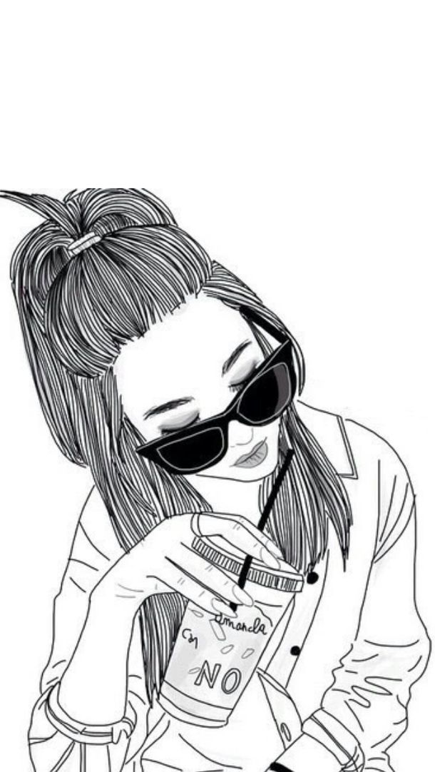 outlines tumblr - Αναζήτηση Google. Hipster Girl DrawingDrawing ...