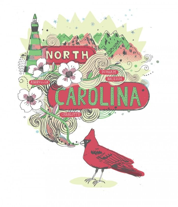 Opener for North Carolina travel feature by James Gulliver Hancock