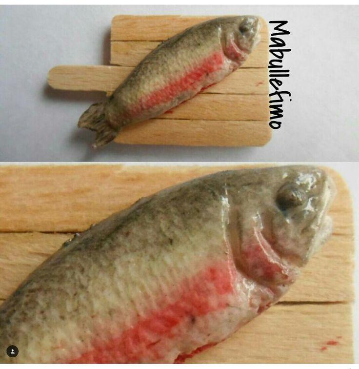 Poisson en pâte polymère (fimo). Polymer clay fish.