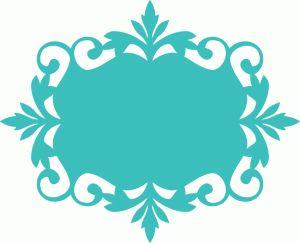 Silhouette Online Store: ornate vintage frame