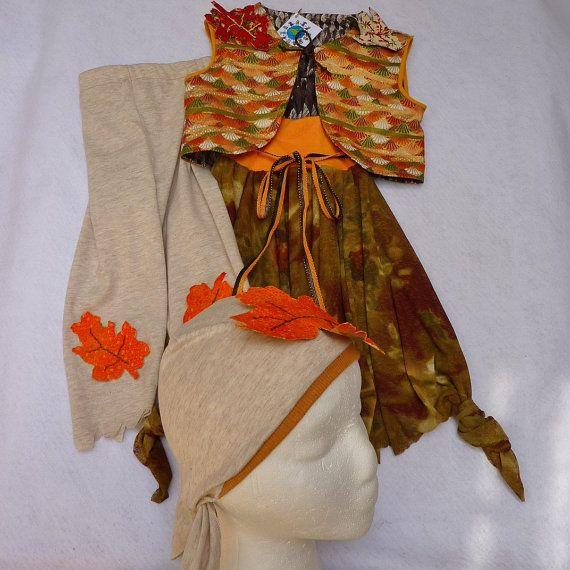 Girls Woodland Elf Gypsy or Bohemian Costume Skirt by TwinsFromOz, $85.00