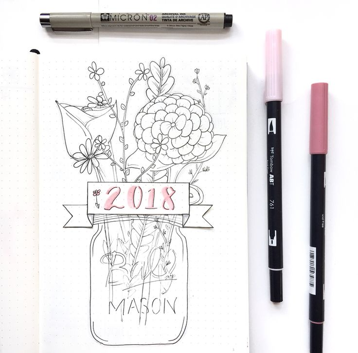 """287 kedvelés, 34 hozzászólás – bullet journal enthusiast  (@cup_doodles) Instagram-hozzászólása: """"it's almost 2018! hope you had some good holidays and that you're looking forward to the new year…"""""""