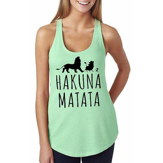 Lion King Hakuna Matata Pumba Silhouette Racerback by HimAndGem