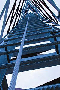 vertikális zuhanásvédelem létrákra