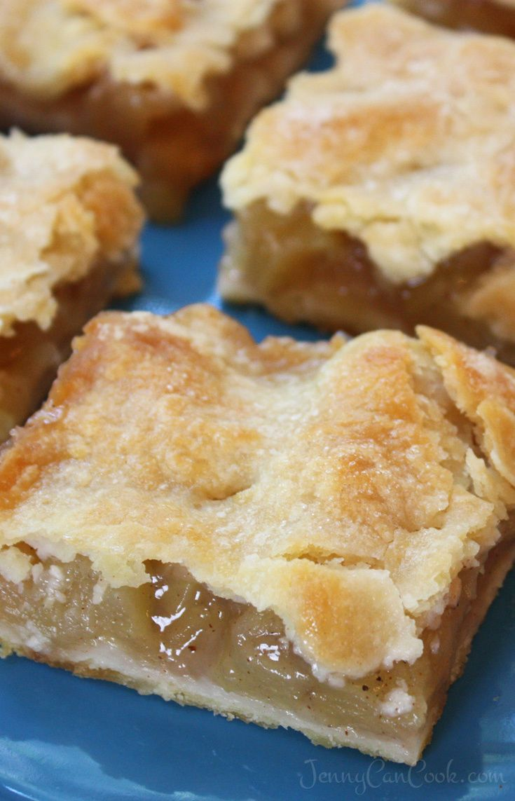 Apple Pie Bars with Easy Oil Crust recipe from Jen…