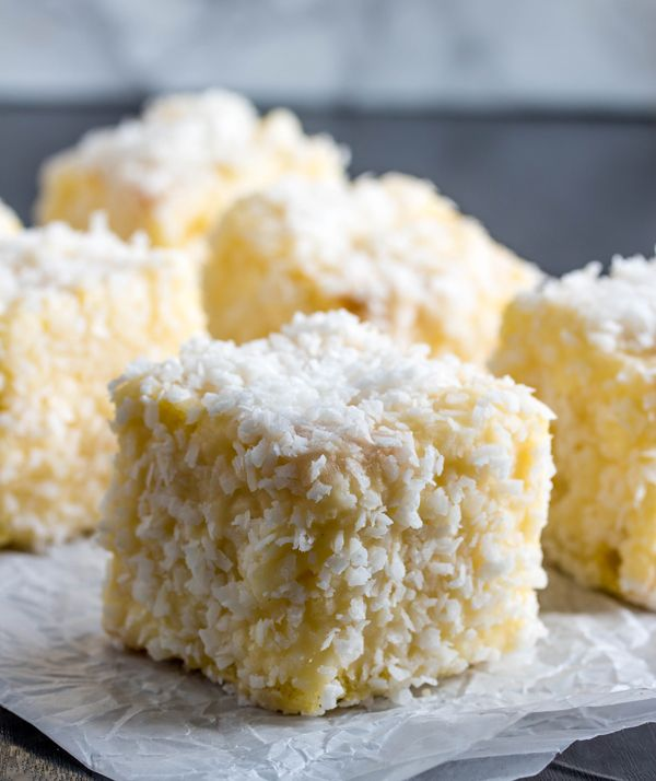 Egg Nog Lamingtons -Lamingtons are a traditional Australian pastry. Add some egg nog and they transform into a holiday treat that will get everyone talking.