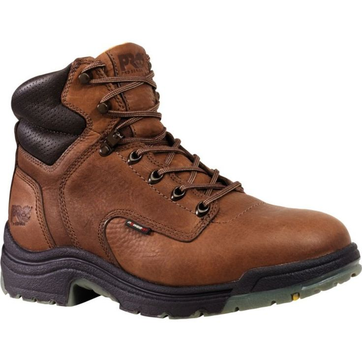Timberland PRO Men's 6'' TiTAN Soft Toe Work Boots, Brown