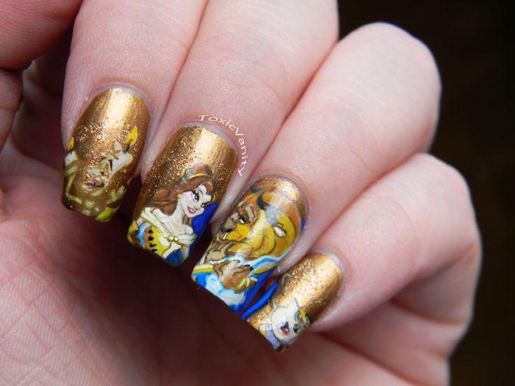 Toxic Vanity: My Favourite Disney Classics 26# La Bella y la Bestia ( Beauty and The Beast nails )
