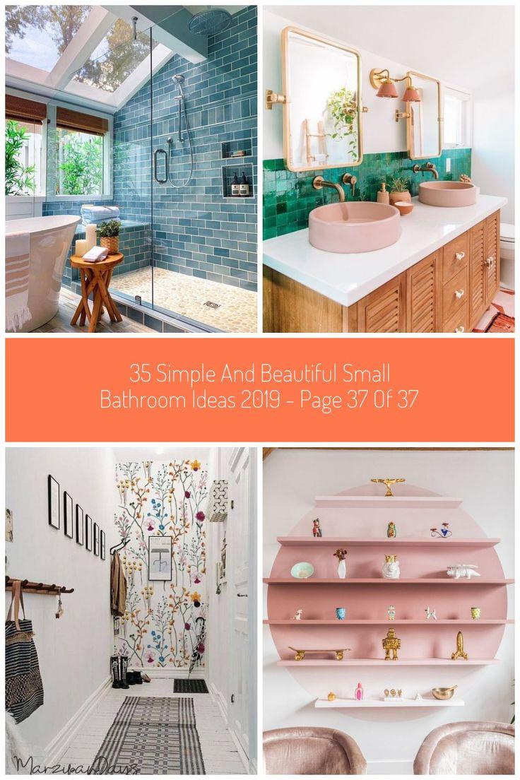 35 Einfache Und Schone Kleine Badezimmerideen 2019 Seite 37 Von 37 In 2020 Kleine Badezimmer Badezimmerideen Kleine Badezimmerideen