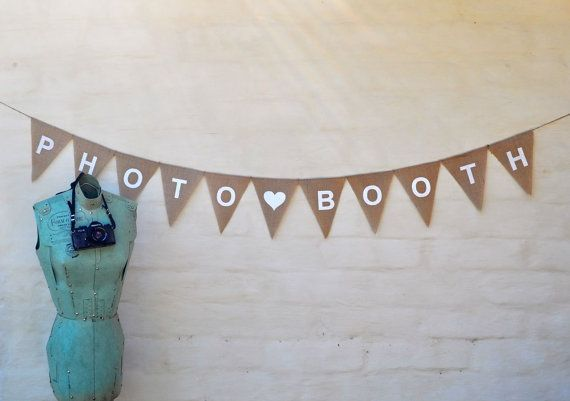 PHOTOBOOTH PHOTO BOOTH Hessian Burlap by collectingfeathers