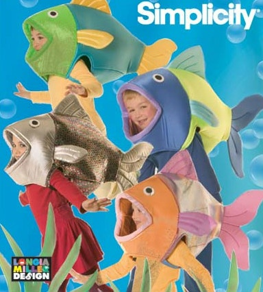 Fish costume (ebay)-these would be good for ensemble fishies
