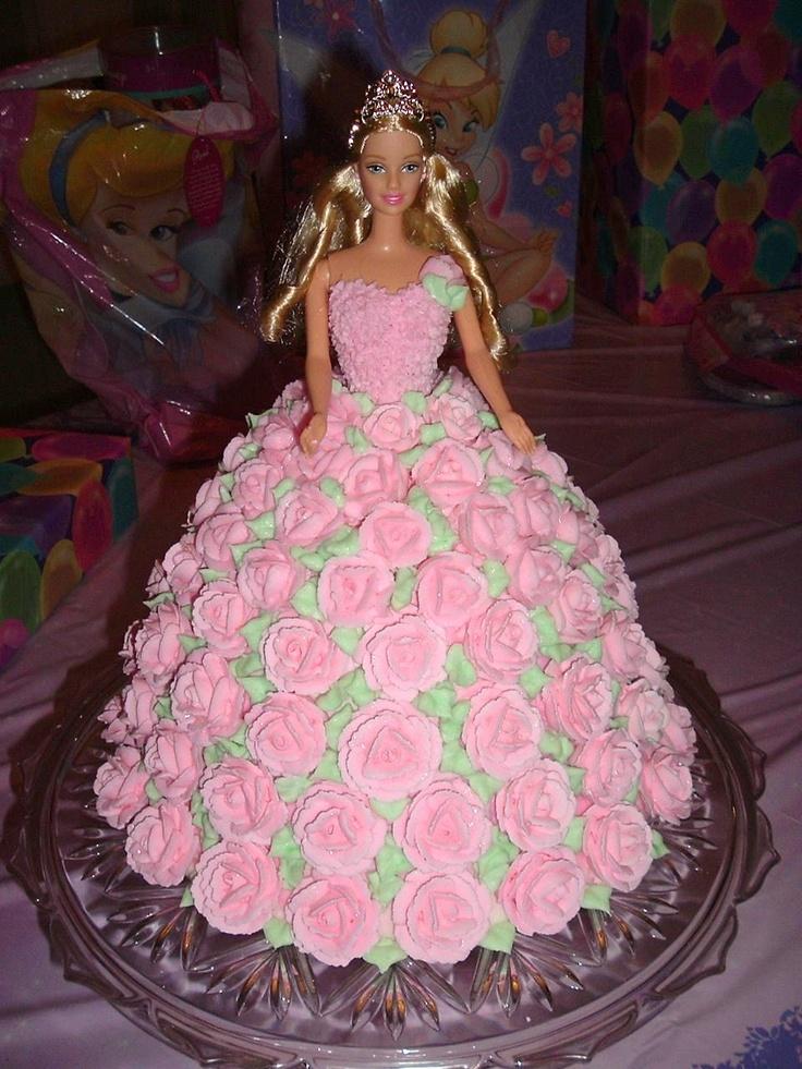 Barbie birthday cake doll cakes pinterest