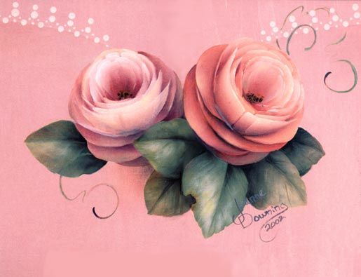 Heartfelt - Pink Rose Study by Jeanne Downing
