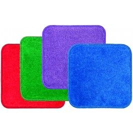 """Jumbo+Seating+Squares+Set+of+24+-+16""""+x+16""""+solid-colored+nylon+carpet+squares+that+are+machine+washable+with+an+antimicrobial+agent,+two+stain+protectors,+and+a+non-skid+embossed+rubber+backing.+Exceeds+Class+I+fire+code+with+a+limited+lifetime+wear+warranty.+Six+each+of+red,+green,+purple+and+blue+are+easily+transported+in+the+included+StowNGo+tote.+-+$129.99"""