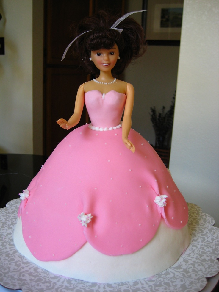 Barbie Fondant Cake Images : 86 best images about Barbie Doll Fondant Cakes on ...