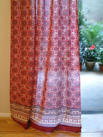 Ruby Kilim Rustic Red Black Lodge Cabin Sheer Curtain Panel In 2018 Stuff I Might Pinterest Curtains And Window