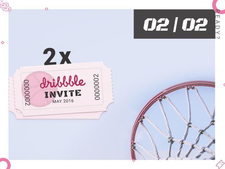2 x Dribbble Invites by Madalina Taina