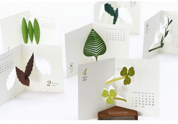 good morning original calendar, botanical life