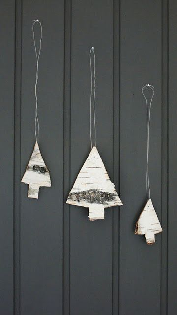 little birch tree ornament cut-outs