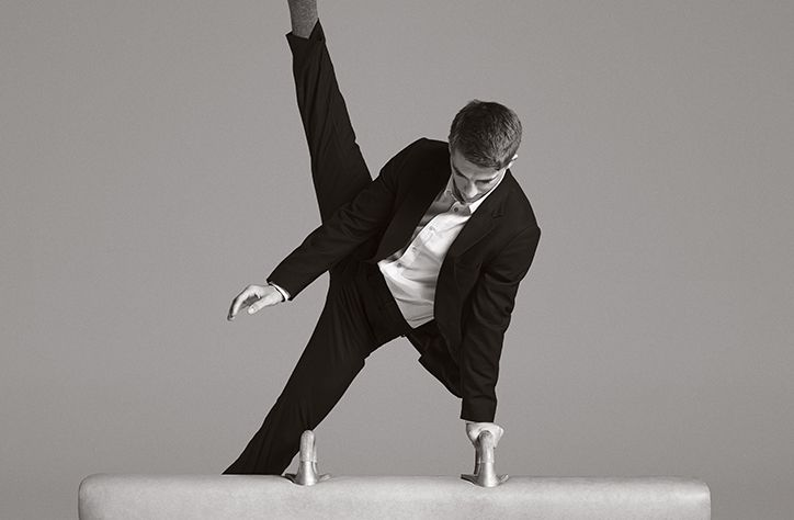 British Olympic gymnast Max Whitlock shows off dynamic tailoring from Paul Smith