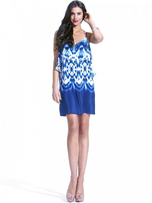 Pacific Ocean Dress by Fate  Now: $129.95 #exquisite #ruffle #events