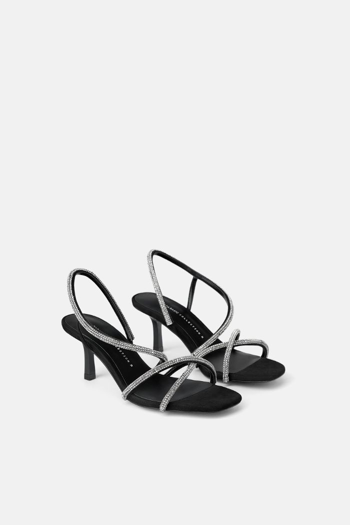 e0424789774838 Zara Bejeweled Mid-Height Heeled Sandals